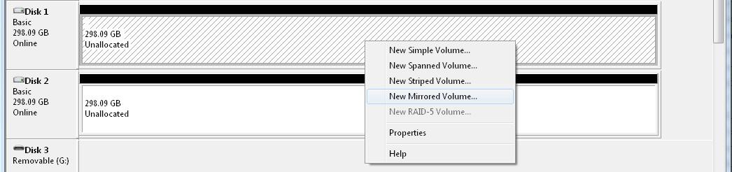 Software RAID on Windows